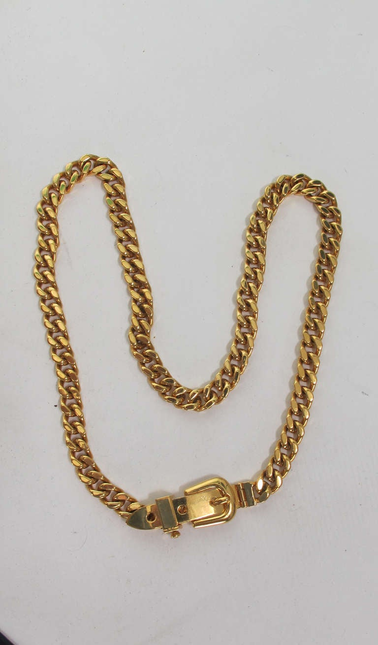 Gucci chunky gold chain link belt In New Never_worn Condition For Sale In West Palm Beach, FL
