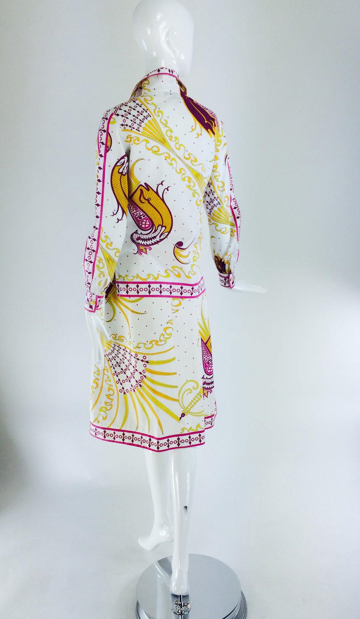 Pucci cotton print blouse & skirt set 1960s For Sale 1
