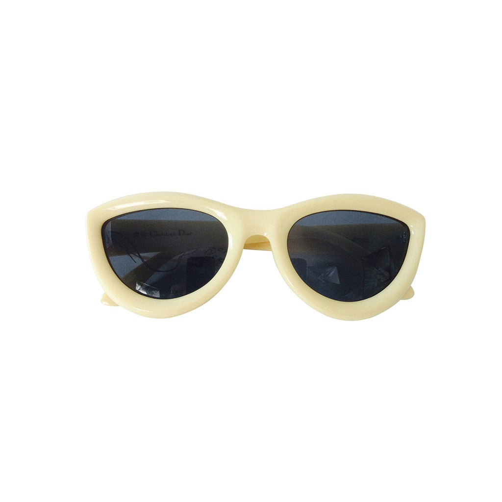 1970s Christian Dior sunglasses in ivory new with tags For Sale