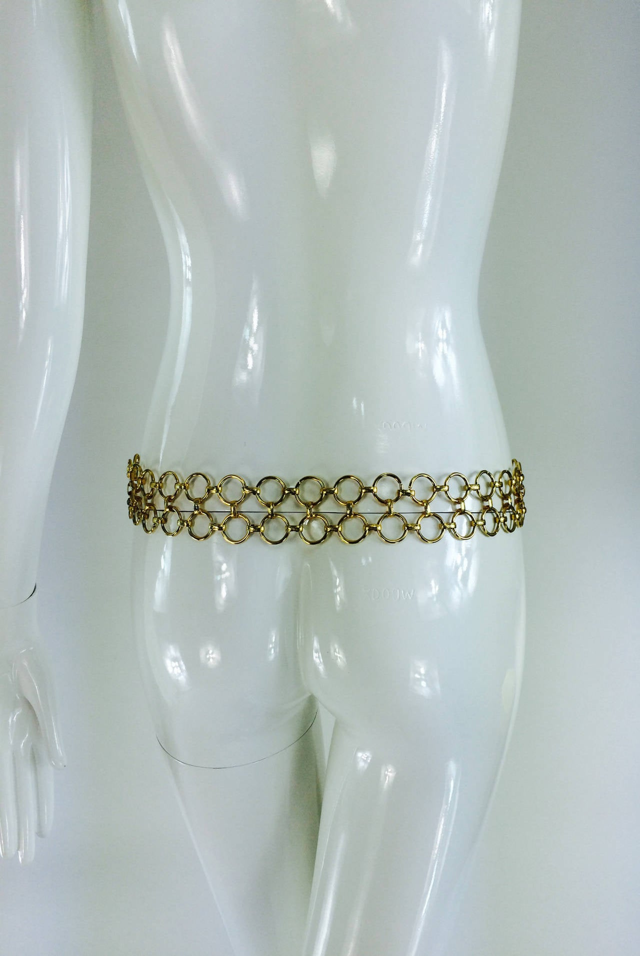 1970s Christian Dior jungle safari chain belt 6