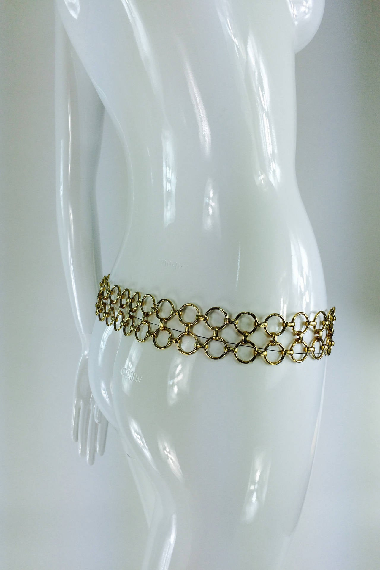 1970s Christian Dior jungle safari chain belt 5