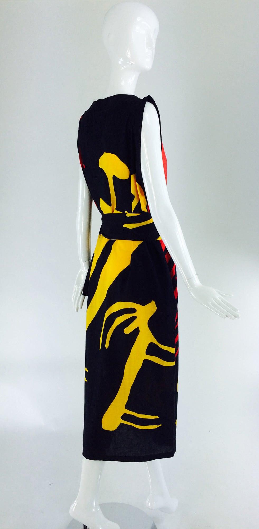 1980s Montenapoleone by Armonia Italy fine cotton shift dress 6