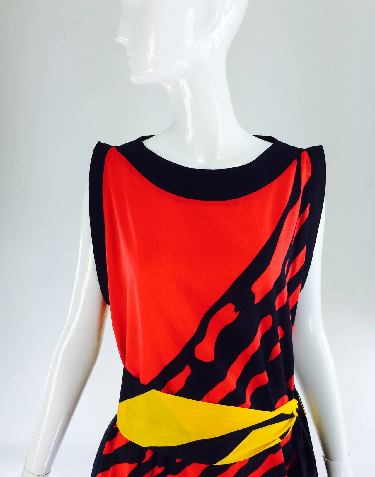 1980s Montenapoleone by Armonia Italy fine cotton shift dress 3