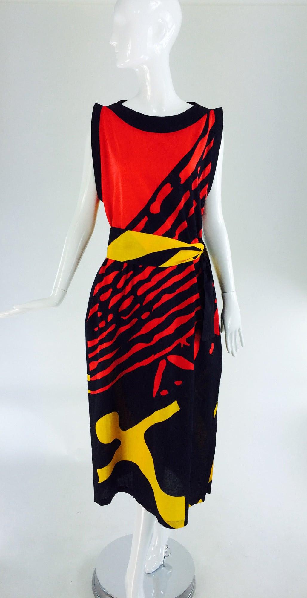 1980s Montenapoleone by Armonia Italy fine cotton shift dress 2