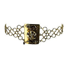 1970s Christian Dior jungle safari chain belt