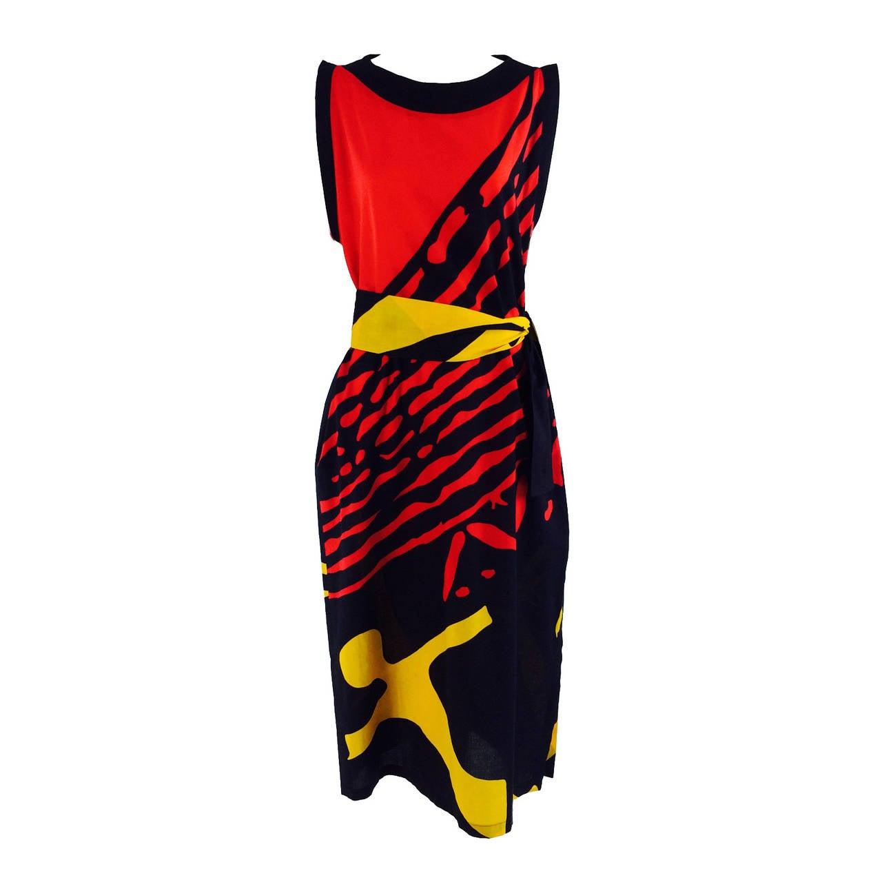 1980s Montenapoleone by Armonia Italy fine cotton shift dress 1