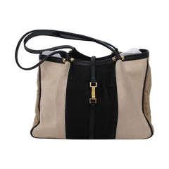Renaud Pellegrino Paris linen & leather handbag