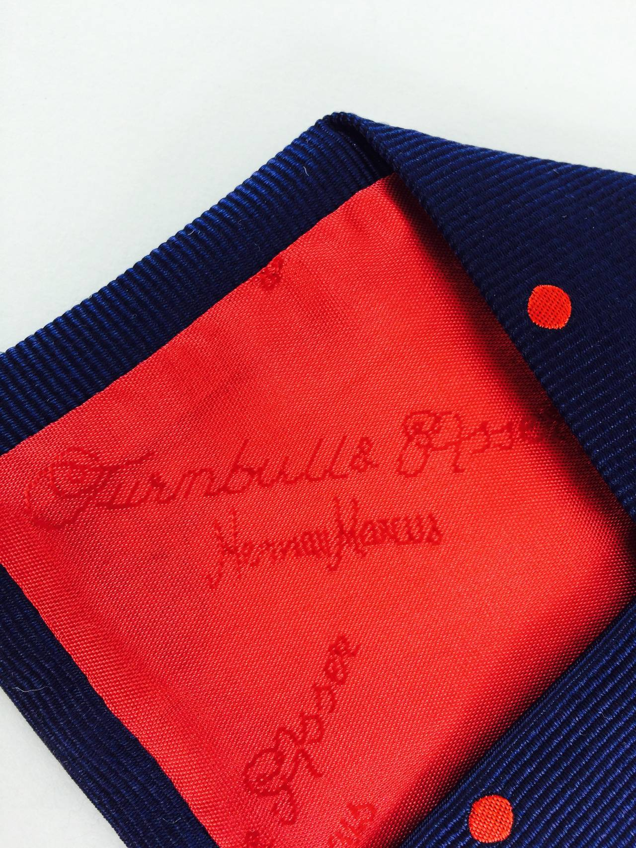 Turnbull & Asser navy blue silk twill tie In Excellent Condition For Sale In West Palm Beach, FL
