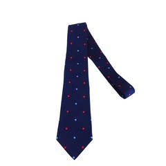 Turnbull & Asser navy blue silk twill tie