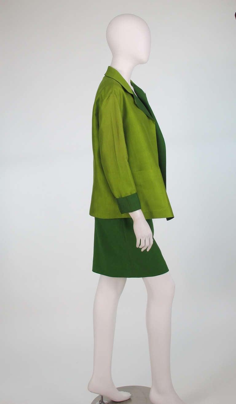 Donna Karan raw silk dress & matching reversible jacket 4