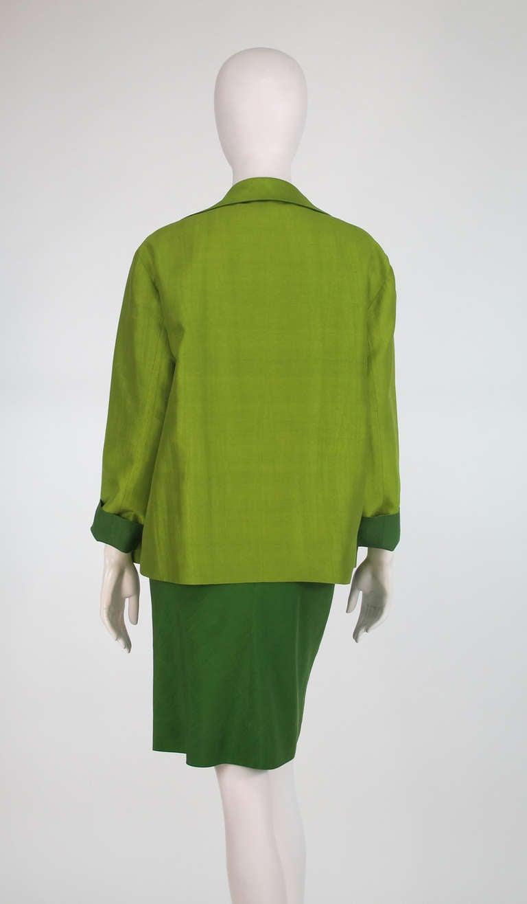 Donna Karan raw silk dress & matching reversible jacket 5