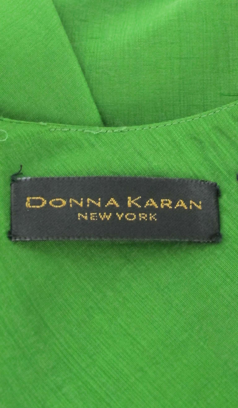 Donna Karan raw silk dress & matching reversible jacket 9