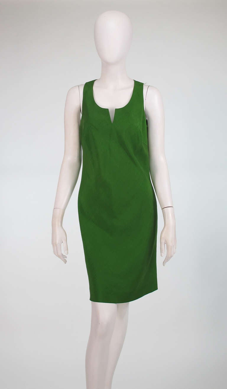 Donna Karan raw silk dress & matching reversible jacket 8