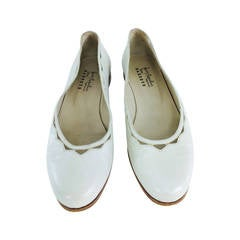 Henry Beguelin cream leather cut out ballet flats 6B