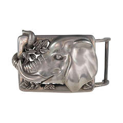 1997 Barry Kieselstein-Cord Tobar the elephant sterling silver large belt buckle