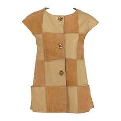 1950s Bonnie Cashin suede & leather vest