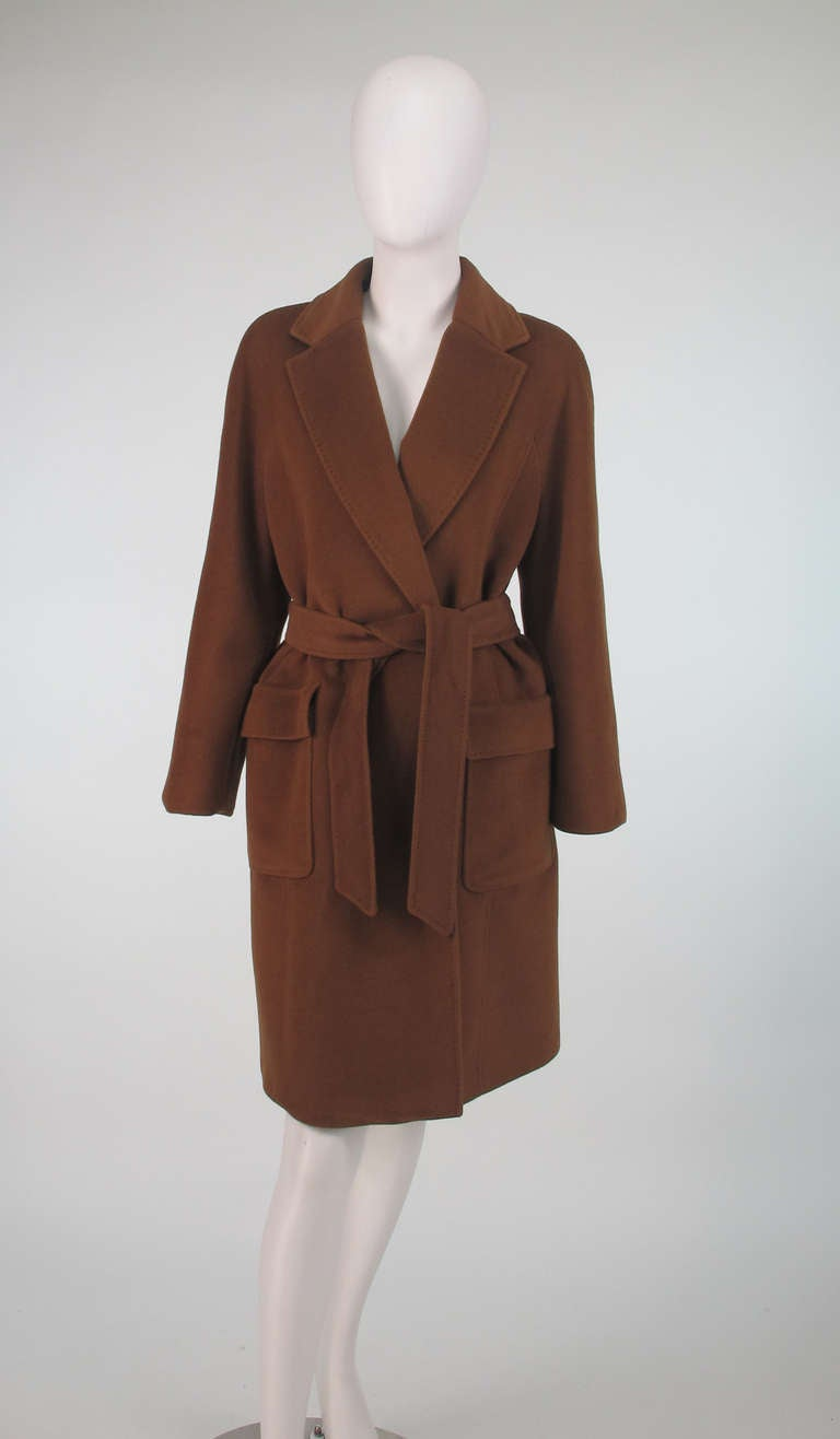 1990s Jaeger Camel Cashmere Wrap Coat At 1stdibs