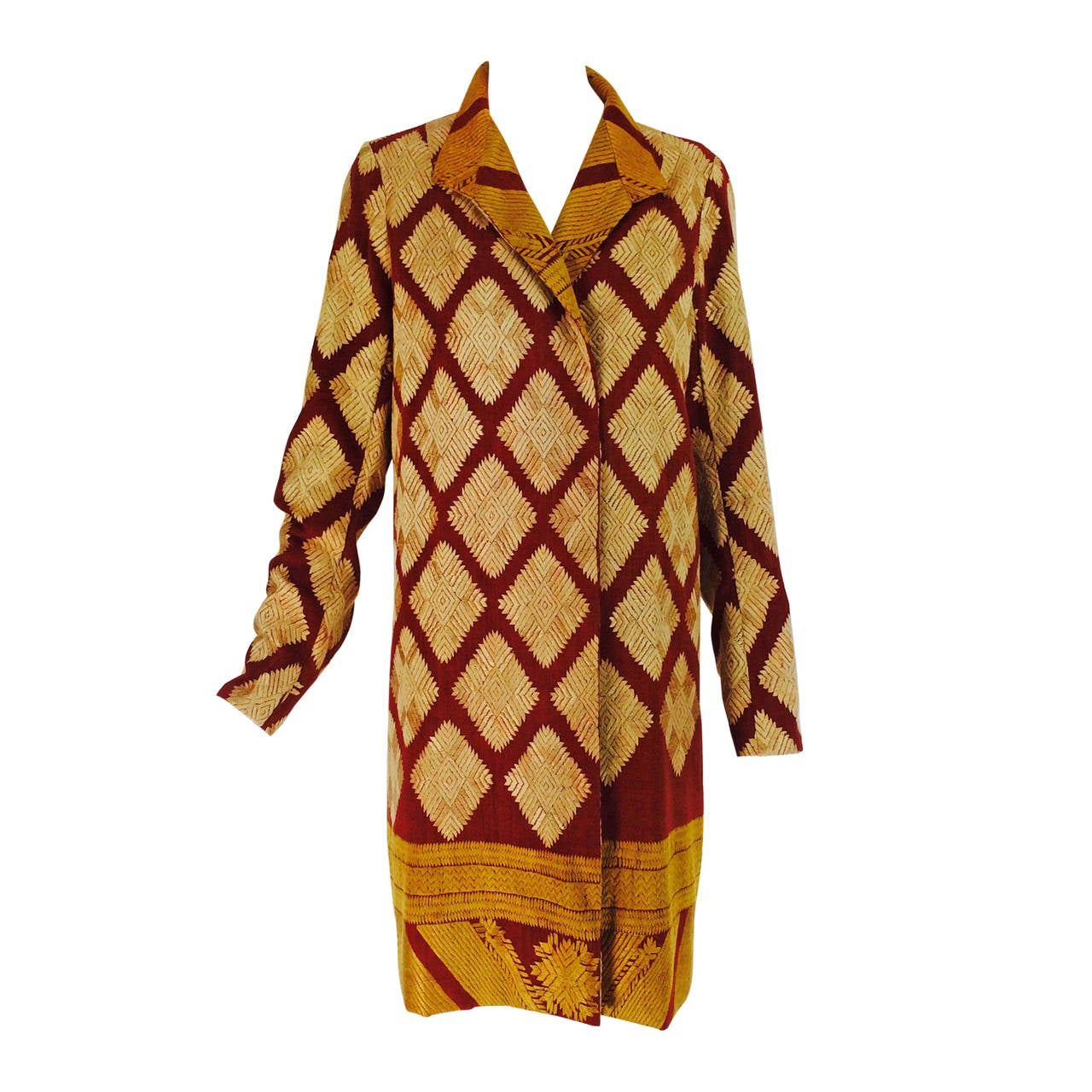 1920s Punjab India chand bagh silk embroidered coat
