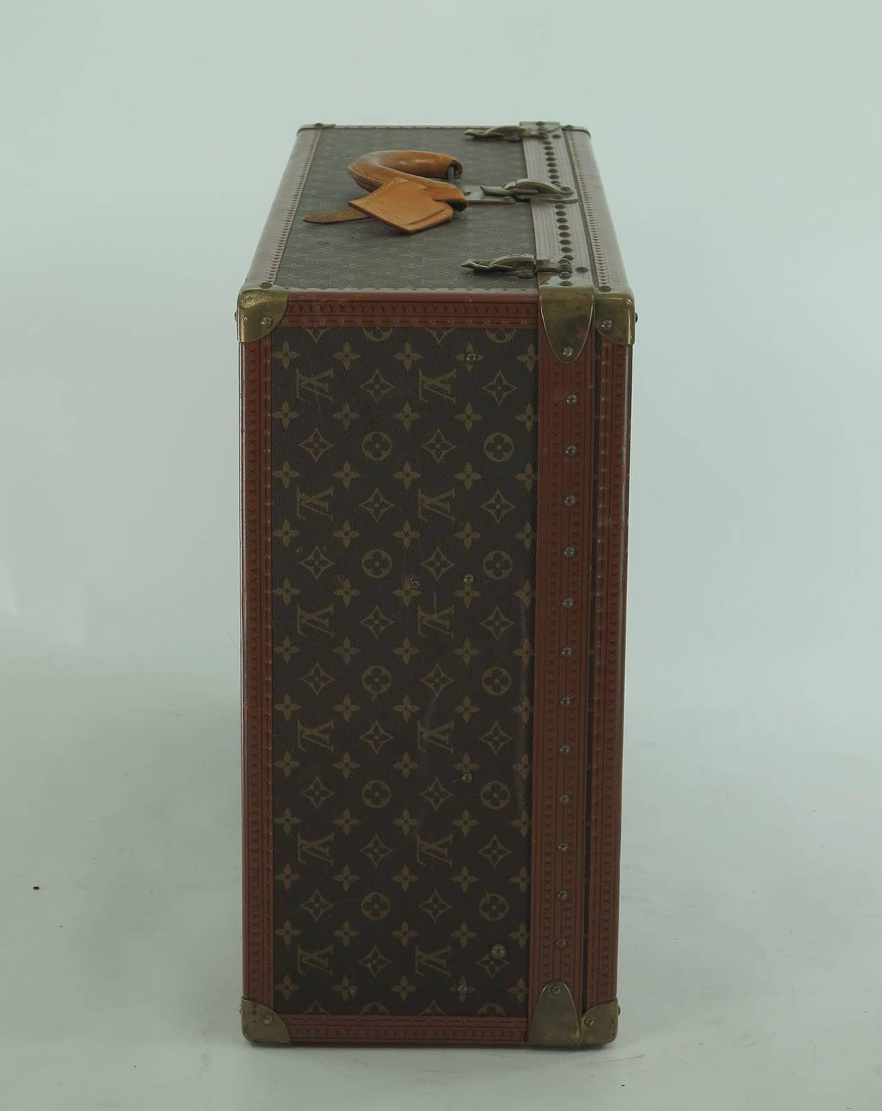 Louis Vuitton Alzar 80 monogram hardside suitcase/trunk 2