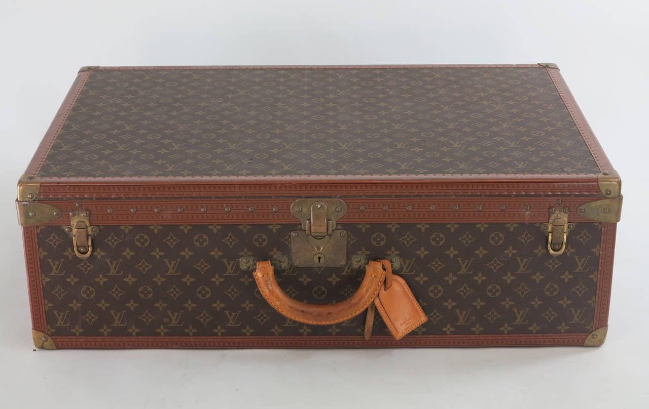 Louis Vuitton Alzar 80 monogram hardside suitcase/trunk 3