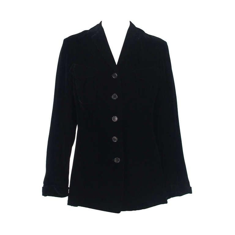 1990s Jil Sander black velvet jacket