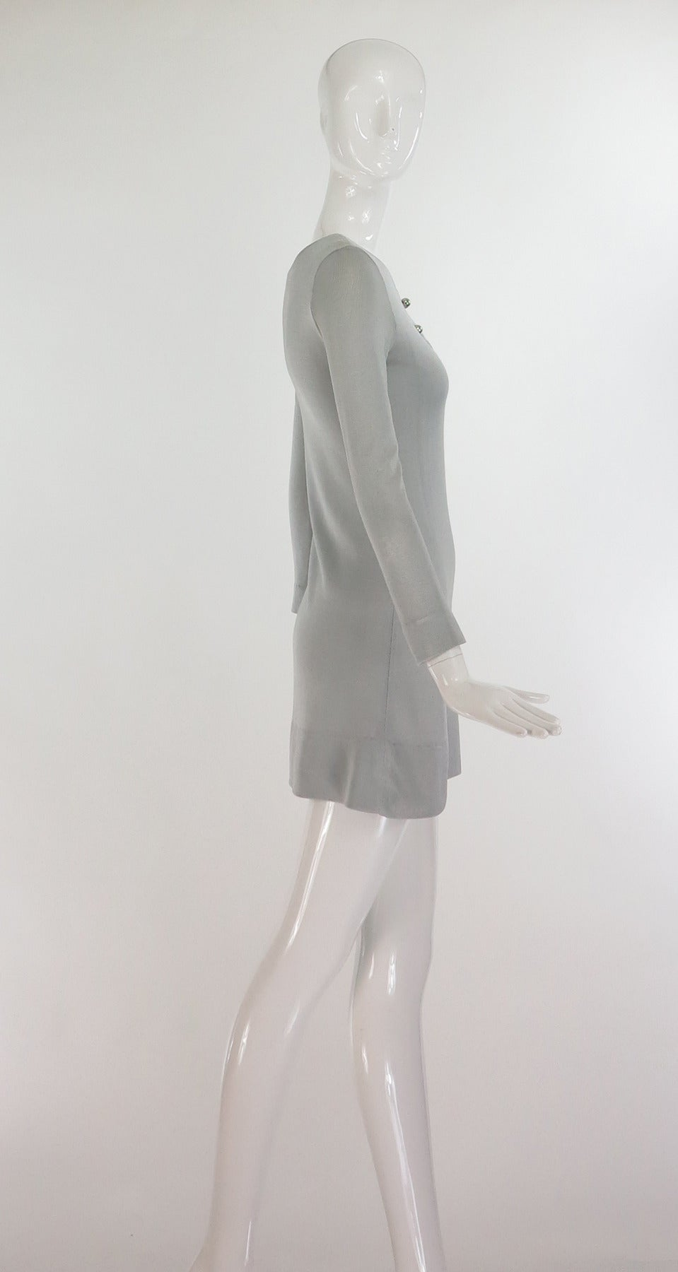 Paraphernalia by Betsey Johnson 1960s silver metallic knit mini dress 3