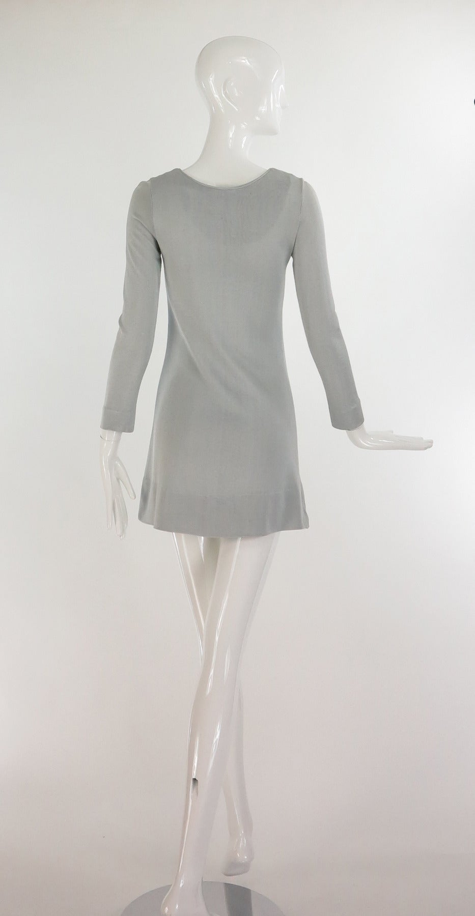 Paraphernalia by Betsey Johnson 1960s silver metallic knit mini dress 5
