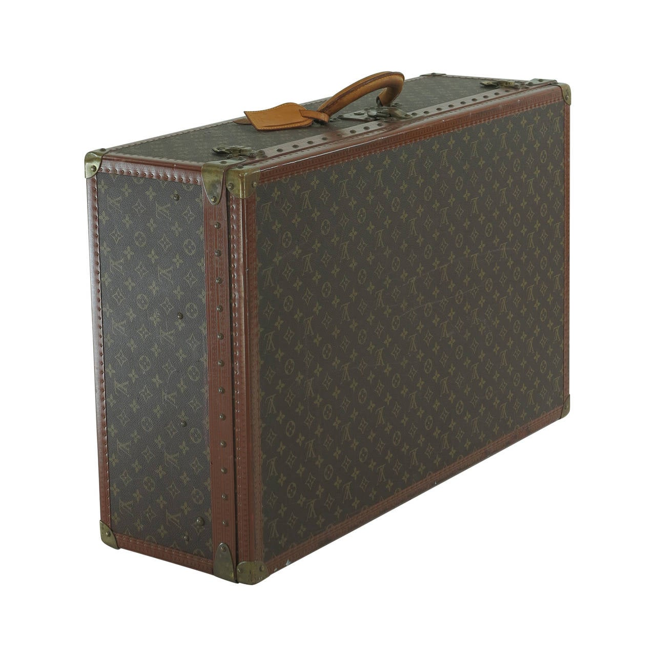 Louis Vuitton Alzar 80 Monogram Hardside Suitcase Trunk