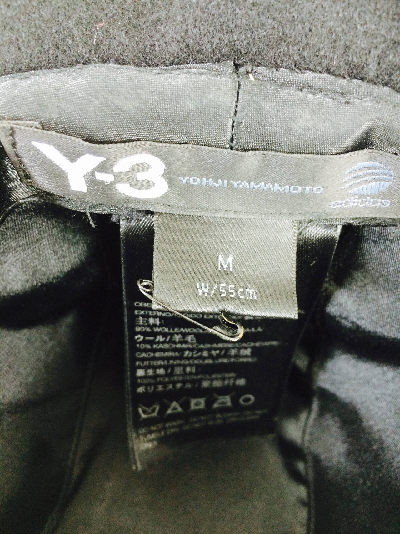 Yohji Yamamoto Y-3 Adidas cashmere blend trilby fedora size medium...In very good condition...Wool/cashmere blend...Please email for more photos or information.