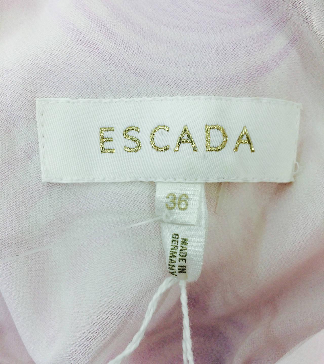 Escada bias cut silk spiral print cowl neck dress 1990s 10