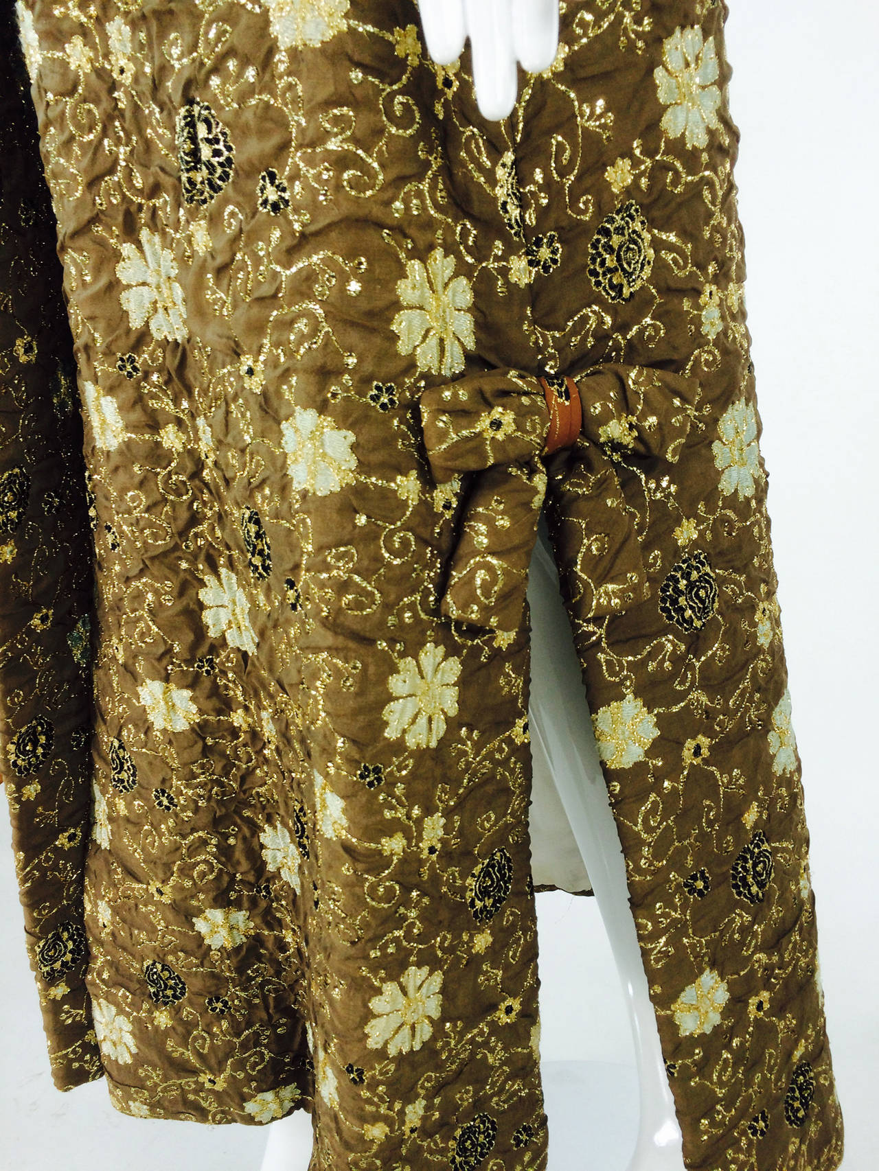 Bob Bugnand for Sam Friedlander mink cuff embroidered evening coat 1960s 9