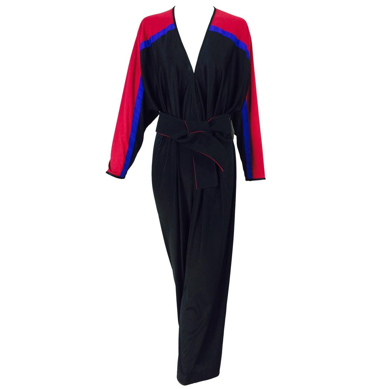 Bill Tice color block sporty jumpsuit 1980s