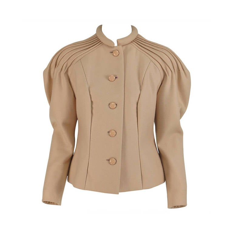 1950s pierre balmain numbered haute couture sculptured for Haute couture jacket