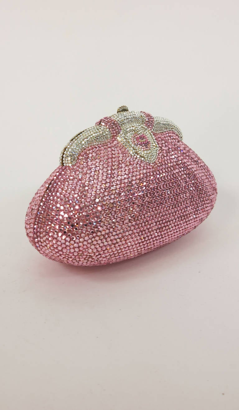 Pink crystal evening bag Finesse la Model 2