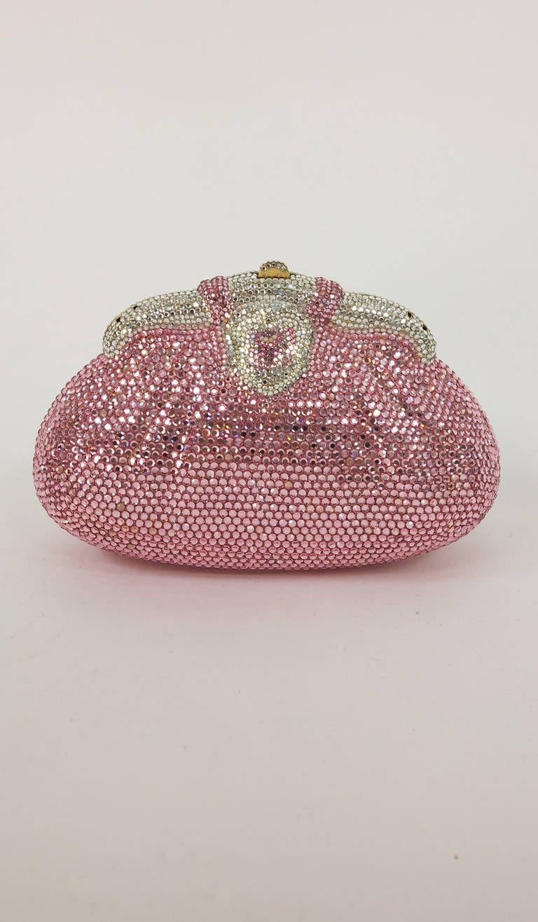 Pink crystal evening bag Finesse la Model 3