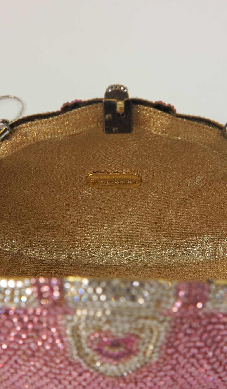 Pink crystal evening bag Finesse la Model 5