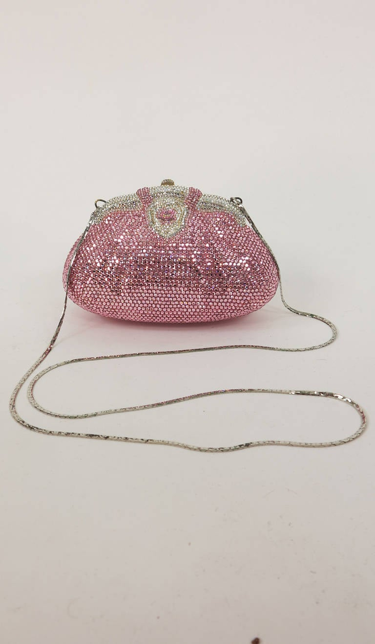 Pink crystal evening bag Finesse la Model 6