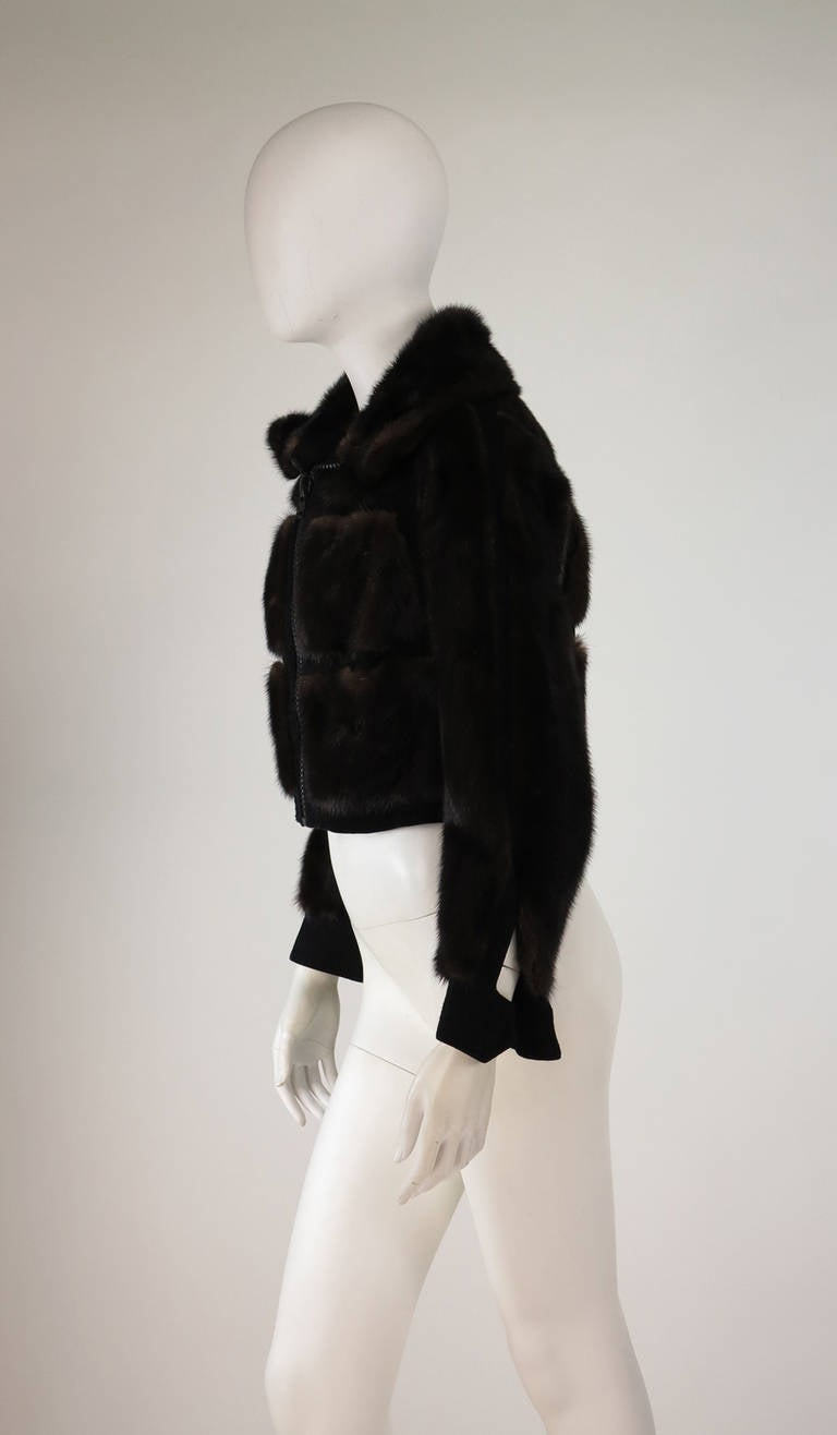 1970s BIRGER CHRISTENSEN black mink & suede cropped fur jacket 3