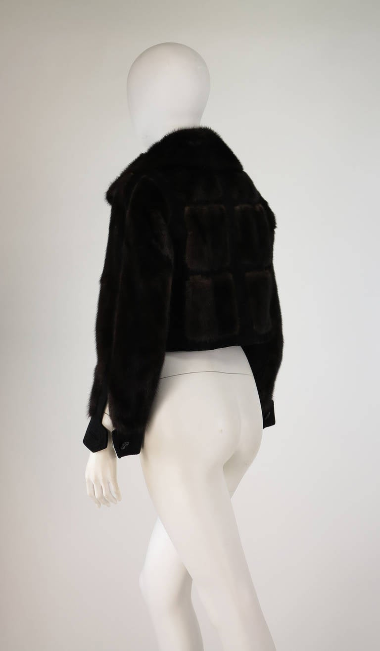 1970s BIRGER CHRISTENSEN black mink & suede cropped fur jacket 4