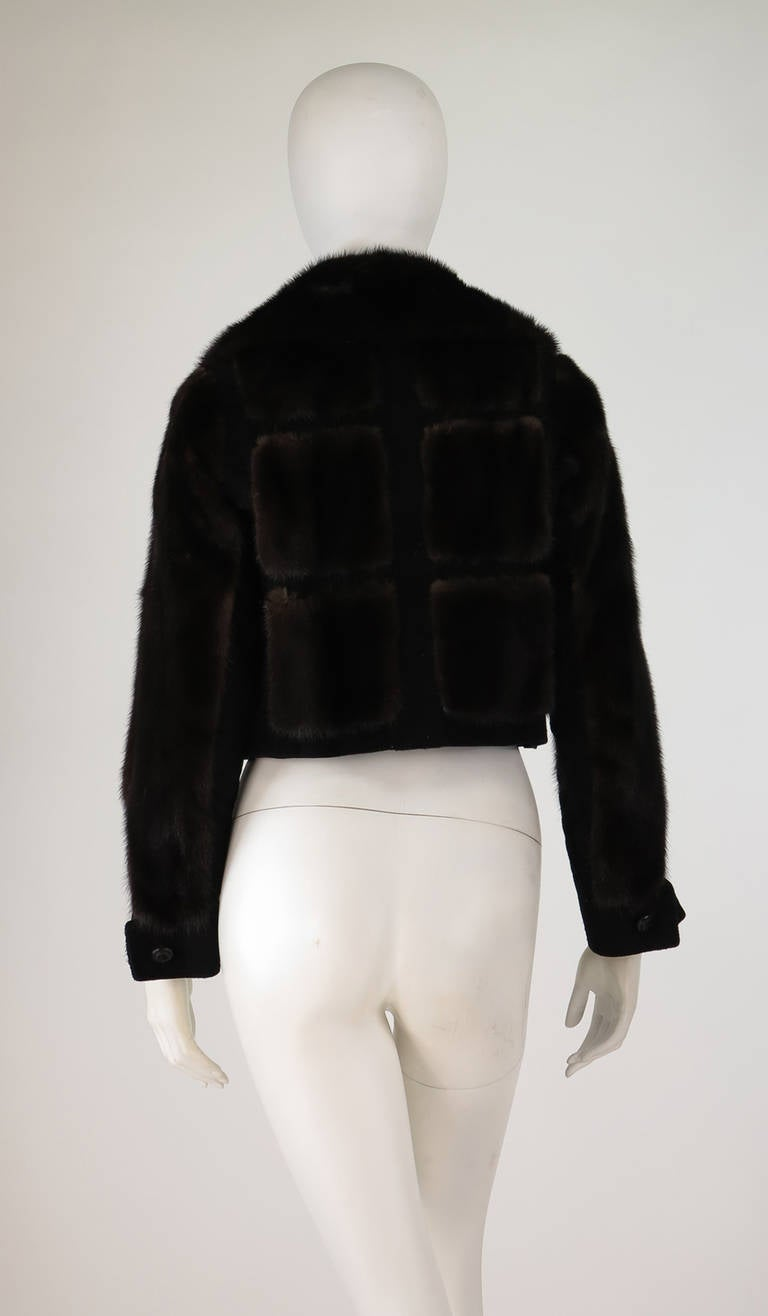 1970s BIRGER CHRISTENSEN black mink & suede cropped fur jacket 5