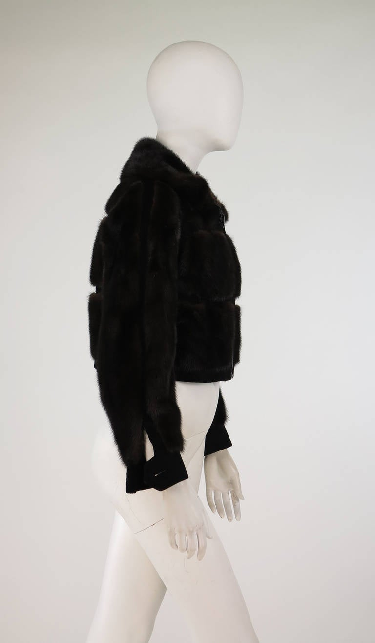 1970s BIRGER CHRISTENSEN black mink & suede cropped fur jacket 7