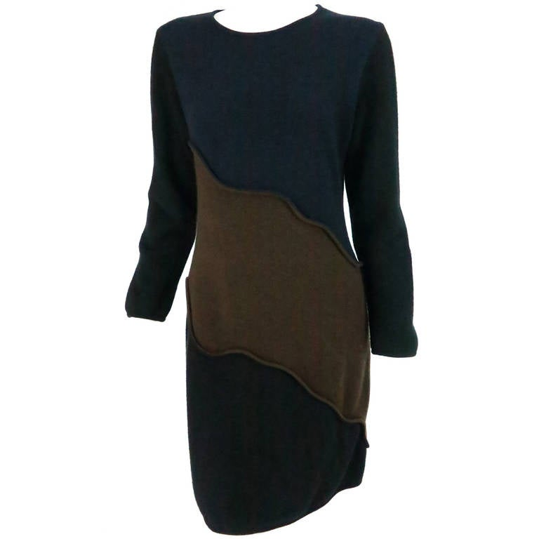 Laura Biagiotti colour block cashmere dress
