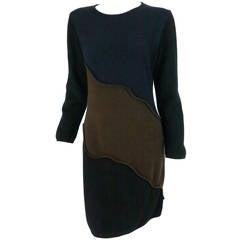 Laura Biagiotti colour block cashmere dress