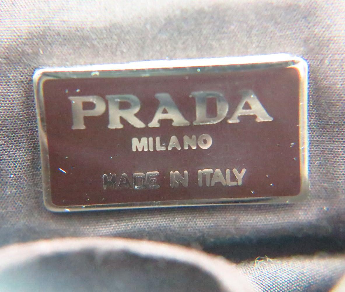 Prada chocolate brown panne velvet and suede hand bag at 1stdibs