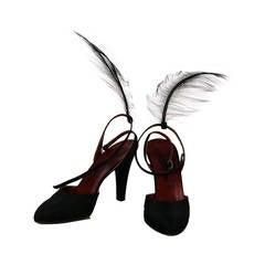 1970s Yves St Laurent Bird of Paradise runway shoes 8N
