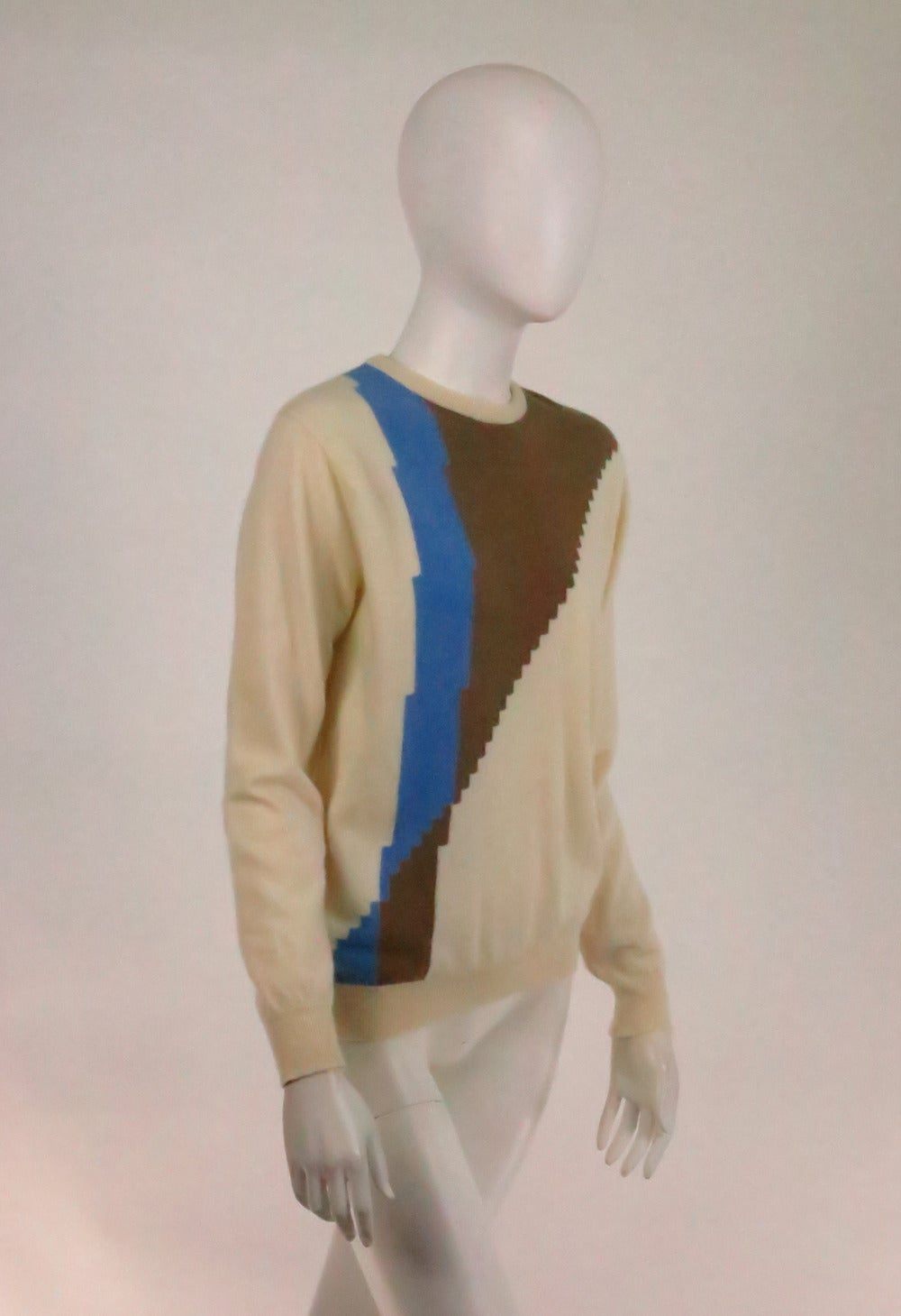 Cashmere colour block sweater Vintage Pringle of Scotland