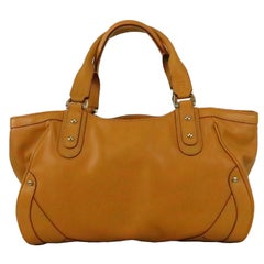 1990s Cole Haan maze leather double handle tote bag NWT