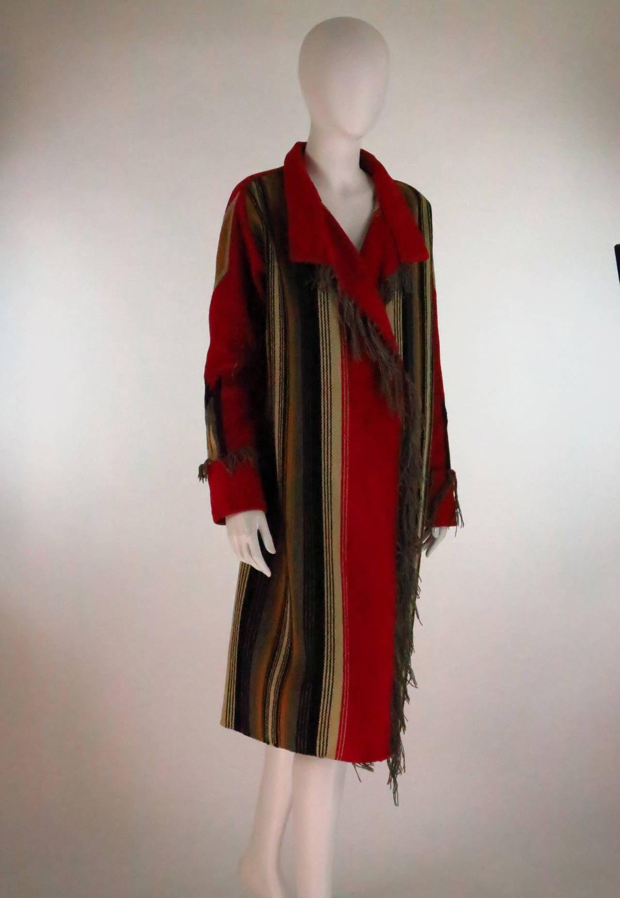 1930s Chimayo Hand Woven Fringe Coat At 1stdibs