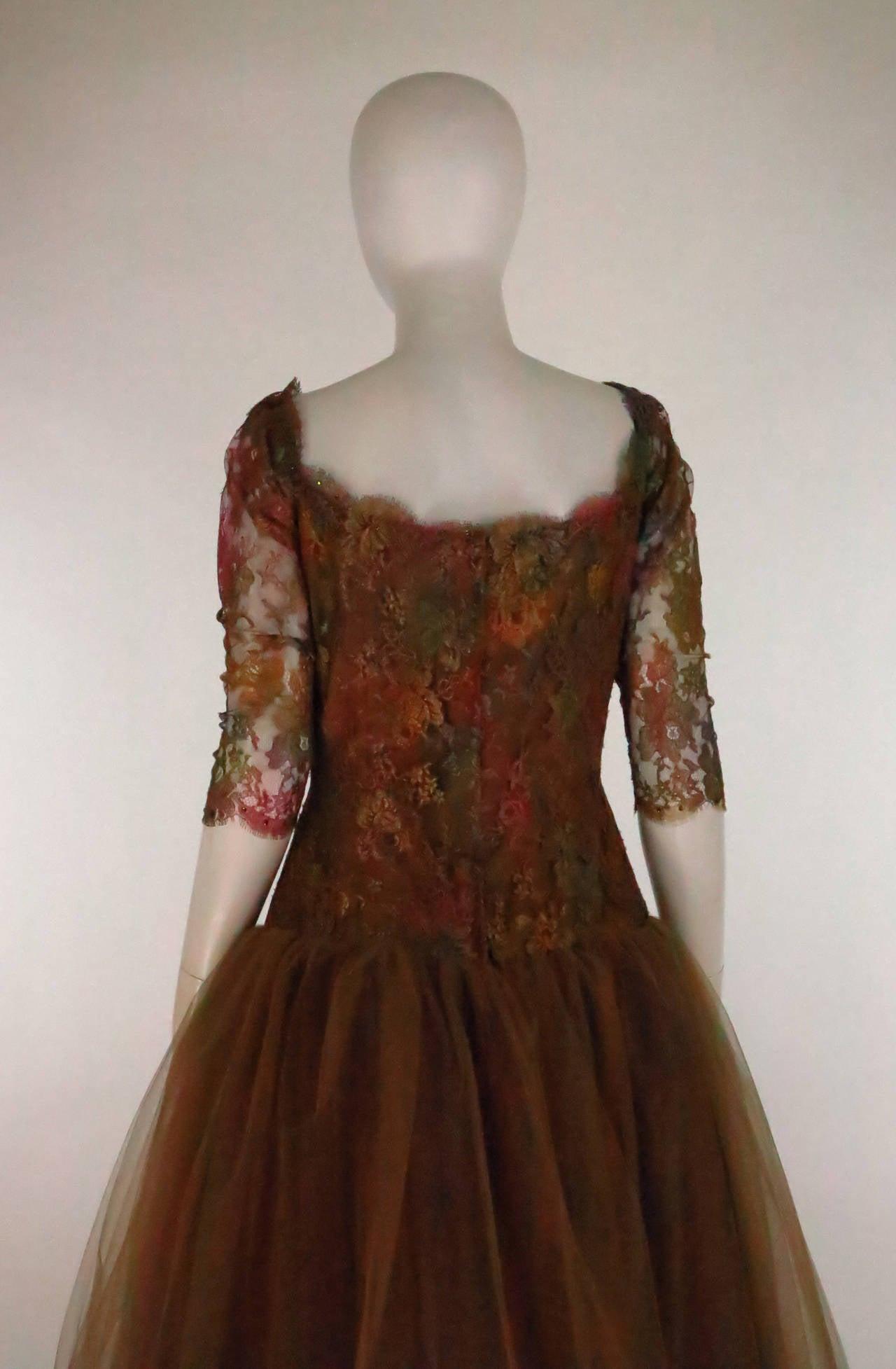 Ivonne de la Vega at Martha Palm Beach ombre lace & tulle gown 4