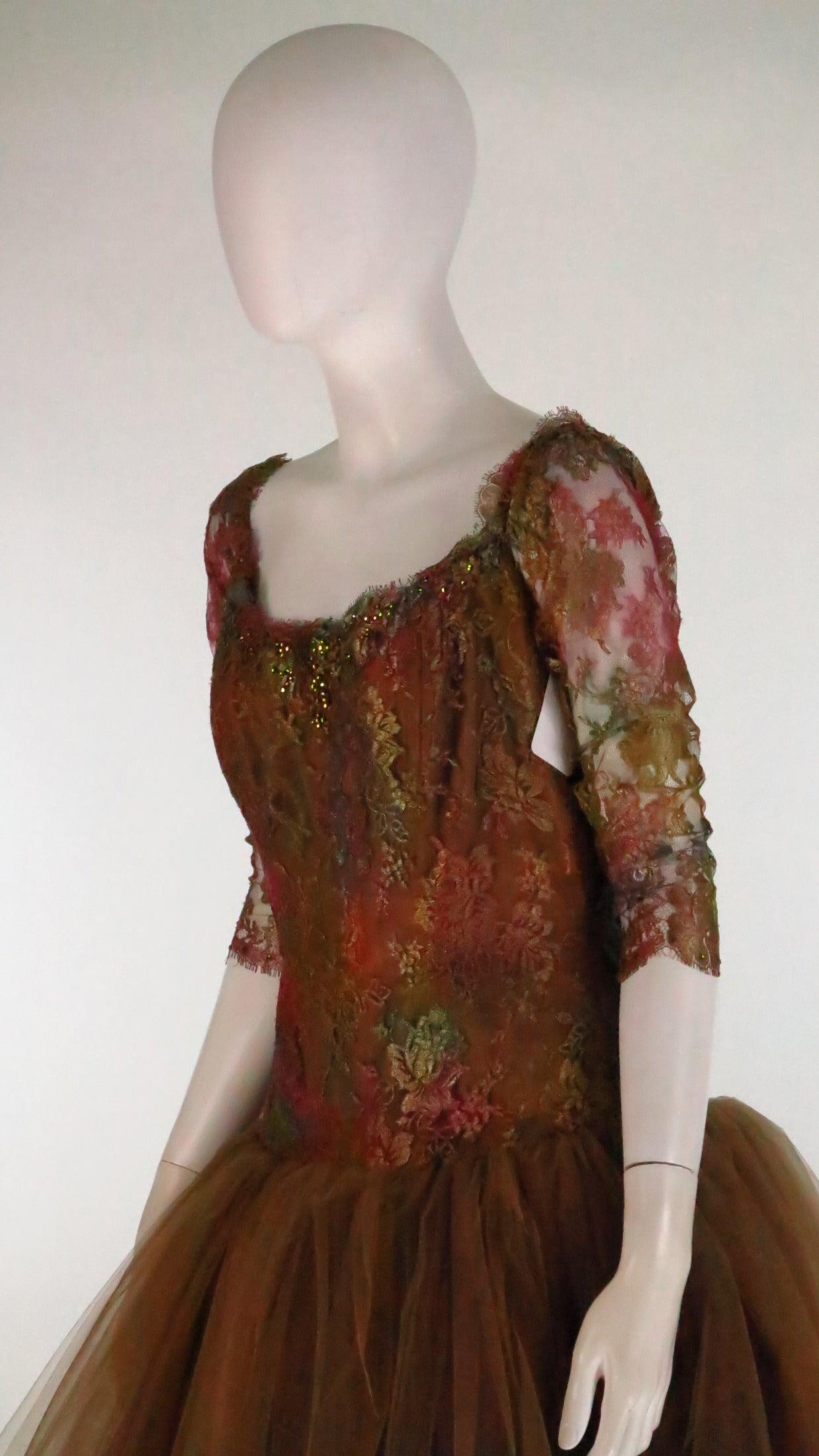 Ivonne de la Vega at Martha Palm Beach ombre lace & tulle gown 5